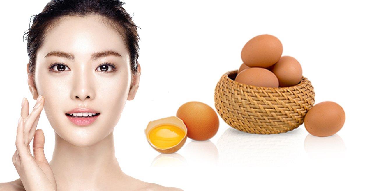 cách làm da mặt căng từ trứng gà