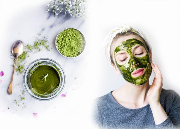 căng da mặt bóng từ trà xanh